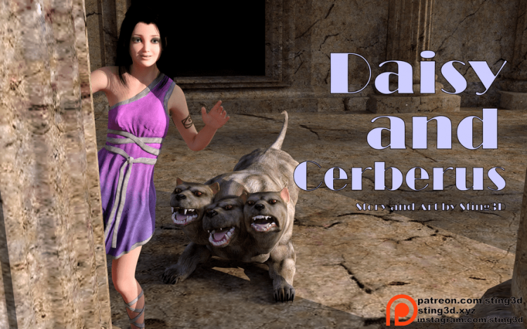 Daisy and Cerberus by Sting3D zoo sex comix