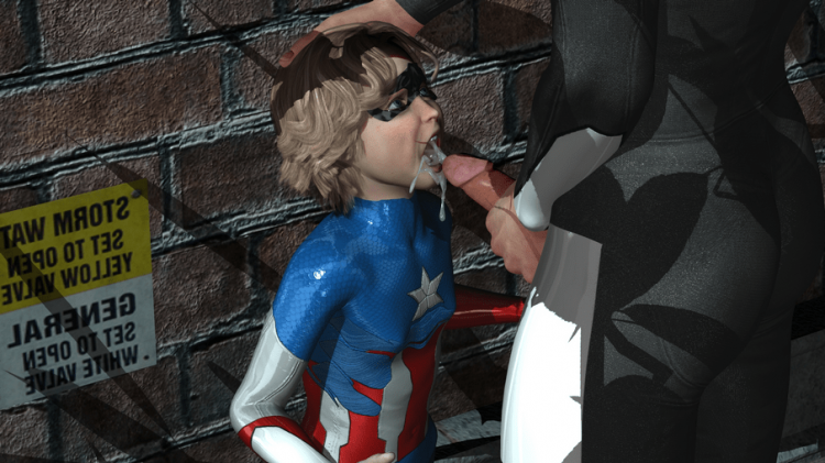 Suck It Harder Superhero Boy Shotacon 3D Images